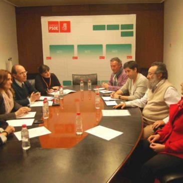 Reunión en el Parlamento de Andalucía 25/01/2012