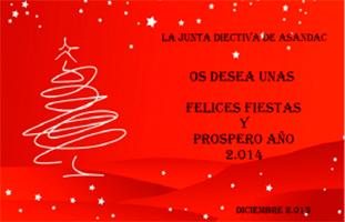 La Junta Directiva de Asandac desea Felices Fiestas