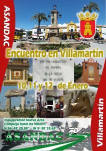 Encuentro en Villamartin 10,11 y 12 Enero del 2014. Inauguración de nueva Área de Autocaravanas