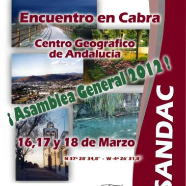 Encuentro en Cabra – 9º Aniversario de Asandac – 13,14 y 15 de Noviembre 2015