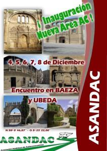 Encuentro en Ubeda-Baeza. Del 4 al 8 de Diciembre. Inauguración de Nueva Area de AC