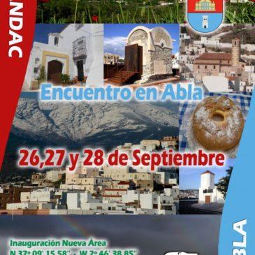 Encuentro en Abla (almería) 26,27 y 28 Septiembre del 2014. Inauguración de nueva Área de Autocaravanas