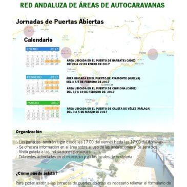 Jornada de Puertas abiertas en la Red de Areas de Autocaravanas en Puertos Andaluces