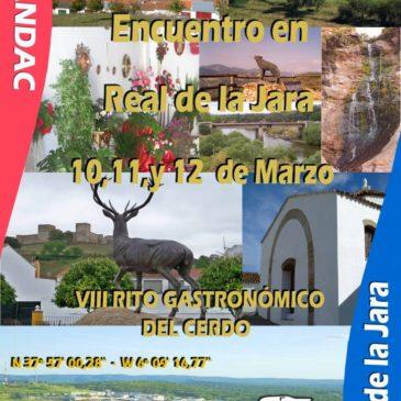 EVENTO DE MARZO DÍAS 10, 11 Y 12, EN REAL DE LA JARA (SEVILLA)  – VIII RITO GASTRONÓMICO DEL CERDO.