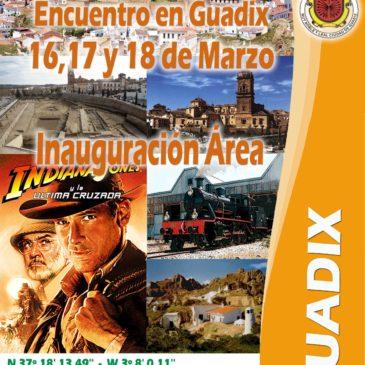Inauguración Area de Autocaravanas en Guadix – 16, 17 y 18 de Marzo