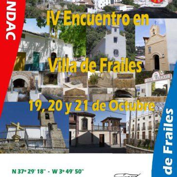 IV Encuentro de Autocaravanas Villa de Frailes 19,20 Y 21 de Octubre 2018