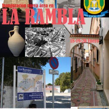 INAUGURACIÓN ÁREA AUTOCARAVANAS LA RAMBLA (CÓRDOBA) 18-19 Y 20 DE ENERO 2019