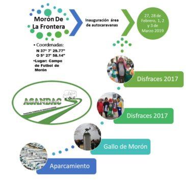 INAUGURACIÓN ÁREA AUTOCARAVANAS MORÓN DE LA FRONTERA, (SEVILLA) 27, 28, 1, 2 Y 3 DE MARZO