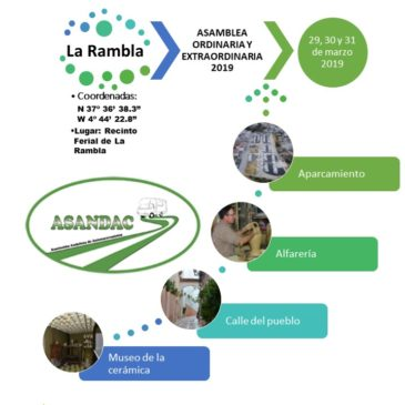 ASAMBLEA ORDINARIA Y EXTRAORDINARIA 2019, LA RAMBLA, 29, 30 Y 31 DE MARZO