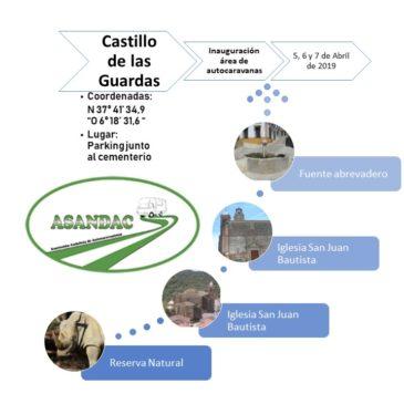 INAUGURACIÓN DE ÁREA DE AUTOCARAVANAS EN EL CASTILLO DE LAS GUARDAS (SEVILLA) 5-6 Y 7 DE ABRIL 2019