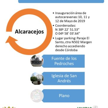 INAUGURACIÓN DE ÁREA DE AUTOCARAVANAS EN ALCARACEJOS, CÓRDOBA 10, 11 Y 12 DE MAYO