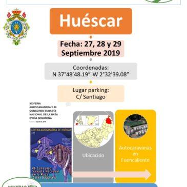 I ENCUENTRO AUTOCARAVANISTA CIUDAD DE HUESCAR, GRANADA 27, 28 Y 29 SEPTIEMBRE