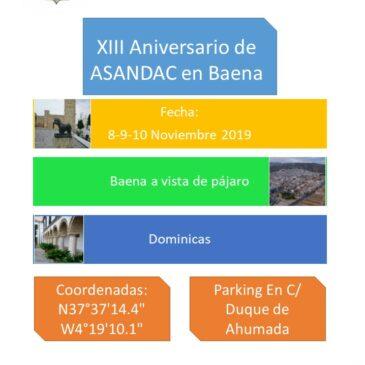 XII+I ANIVERSARIO BAENA (CÓRDOBA) 8, 9 Y 10 NOVIEMBRE