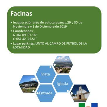 INAUGURACIÓN ÁREA DE AUTOCARAVANAS EN FACINAS (CADIZ). 29/30 NOVIEMBRE-01 DICIEMBRE