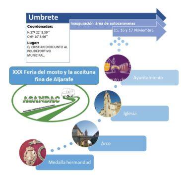 INAUGURACION AREA AUTOCARAVANAS UMBRETE (SEVILLA) 15/16 Y 17 DE NOVIEMBRE