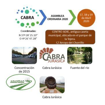 ASAMBLEA ORDINARIA 20, CABRA, 17, 18 Y 19 DE ABRIL