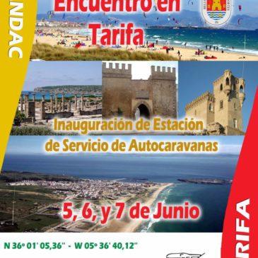 Encuentro en Tarifa – 5,6, y 7 de Junio del 2015. Inauguración de Estación de Servicio de Autocaravanas