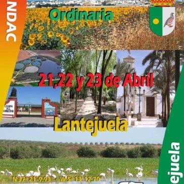 ASAMBLEA ANUAL ORDINARIA, LANTEJUELA 21, 22 Y 23 ABRIL