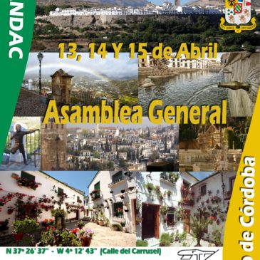 ASAMBLEA ANUAL ORDINARIA, PRIEGO DE CÓRDOBA 13, 14 Y 15 ABRIL