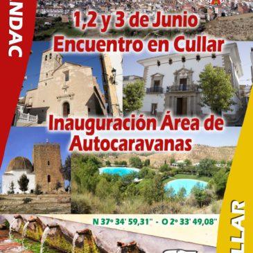 Inauguración de Nueva Area de Autocaravanas en Cullar – 1,2 y 3 de Junio