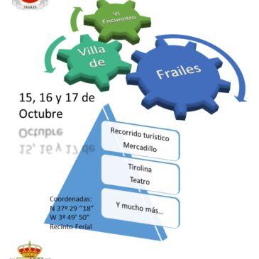 ENCUENTRO AUTOCARAVANISTA EN FRAILES (JAEN) 15/16 Y 17 DE OCTUBRE 2021